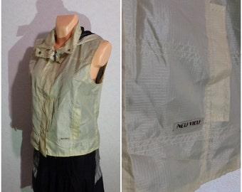 Vest #Hooded#Zipper Lock #Medium-Large Size