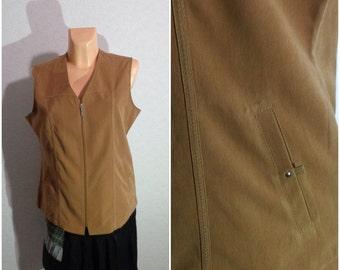 Vest #Zipper Lock #Large-XLarge Size