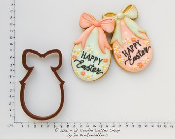 Easter Egg with Bow Cookie Cutter