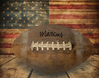 Personalized Football Photograph, Customized Sports Photo Gifts for Boys Room Decor Wall Art Man Cave p156