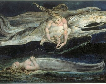 William Blake: Pity. Fine Art Print/Poster (00447)