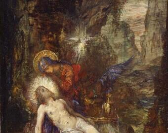 Gustave Moreau: Pieta. Fine Art Print/Poster (0046)