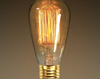 40 Watt Antique Edison Light Bulb- Medium Base- Vintage, Industrial, lighting, farmhouse