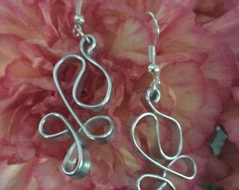 Silver Handmade Wire Earrings