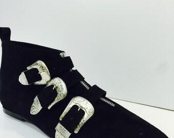 Original Pikes-3 Cowboy Buckle Boots