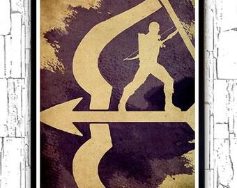 The Avenging Archer Vintage Minimalist Movie Poster