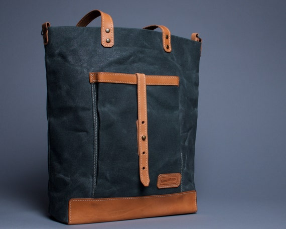 Beautiful Womens Waxed Canvas Messenger Bag By LolafalkLeathergoods
