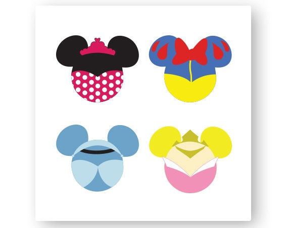disney  princess  icon minnie mouse head  icon mickey mouse head  mouse ears  illustration