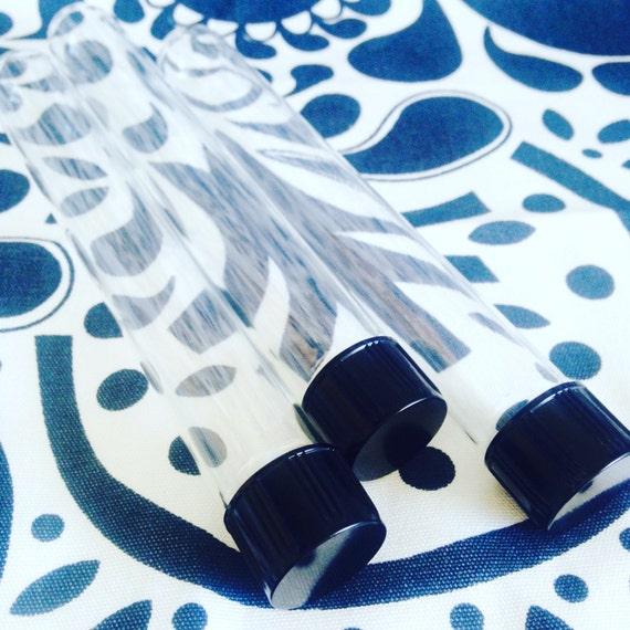 100 x 30ml serological glass test tubes black screw cap lids for Glass test tubes for crafts