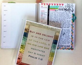 Bible Journaling Notebook  BJ121 / Bible Journal / Prayer Journal / Bible Journaling Supplies