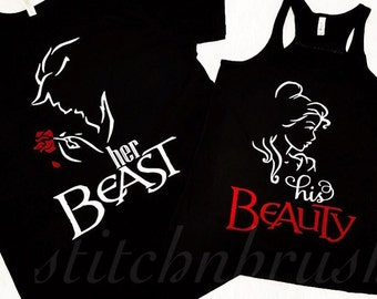 Beauty and Beast Shirts | His Beauty Her Beast | Couples His and Hers Shirt | Beauty and Beast Couples Shirts | Belle and Beast