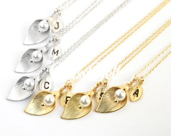 10% OFF, Bridesmaid gifts, Set of 7,8,9,10, Calla lily necklace, Bridesmaid necklace, Personalized Wedding jewelry, Nature Forest jewelry,