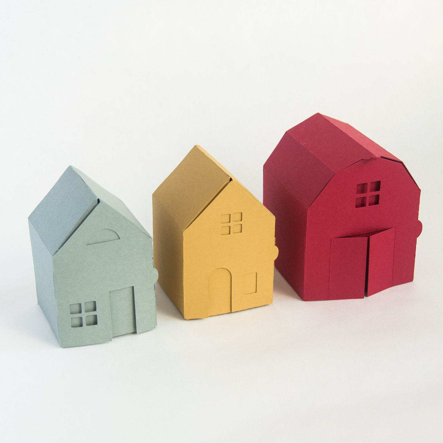 Village Papercraft Kit Make Your Own Tiny Paper Houses By