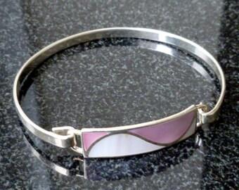 Sterling Silver & Mother of Pearl Bracelet
