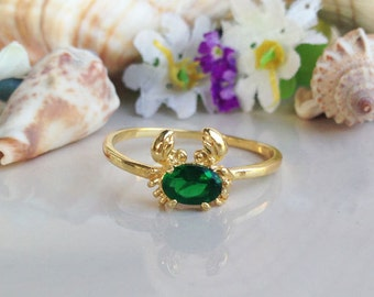 20% off- SALE!! Crab Ring - Cute Sea Ring - Crab Knuckle Ring - Crab Midi Ring - Sea Midi Ring - Sea Jewelry - Simple Ring - Gold Ring