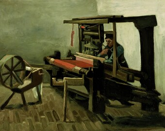 The Weaver by Vincent Van Gogh, Giclee Canvas Print
