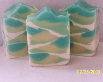 "Handmade Shea Butter Vegan Organic Soap ""Morning Dew"""