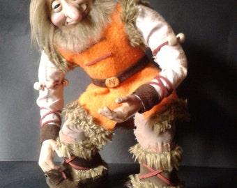 orange gooblin doll ooak
