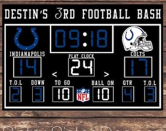 Printable Football Scoreboard