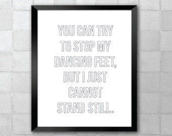 You Can't Stop The Beat – Hairspray – Song Lyric Quote 8x10 11x14 Typography Wall Art Print