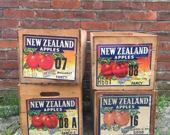 FLASH SALE- Vintage Apple Crates