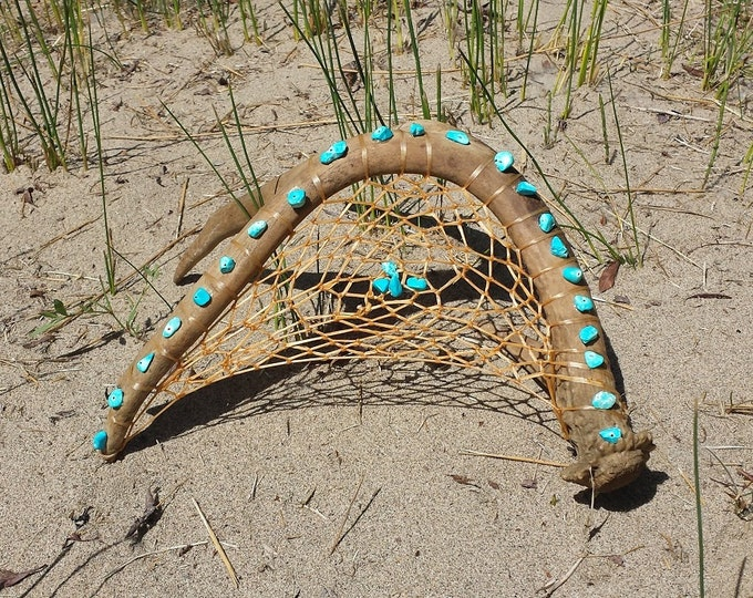 Authentic Indian Dream Catcher ~ Real Dreamcatcher Using Alberta Metis & Woodland Cree Traditional Teachings ~ Baby Boy Crib Art
