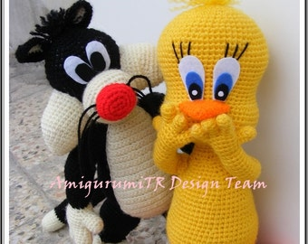 Amigurumi Tweety Bird : E book Looney Tunes Crochet Pattern Bugs Bunny, Tweety ...