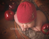 Hand Knitted Baby Hat Button Detail PhotographyPhoto Prop 012 Months Cashmerino Silk Boy UK Seller