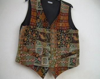 STEAM PUNK   ,VEST / Skirt suit  -  Womans Waist Coat, Vest, 3suisses, tapestry ,