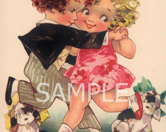 Fabric Art Quilt Block -  Let's Dance - 13-0403 FREE Shipping