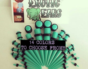 ExoticEars© stretching kit, 14g-00g, tapers and plugs, taper kit, stretching kit, acylic tapers