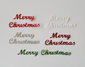 Merry Christmas Script Die Cuts