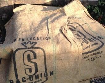 French Vintage Large Produce Sacks