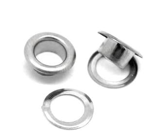"""metal eyelets silver 3/8""""x 1/8"""" rivets Metal Grommet - pack 20"""