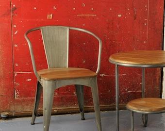 Vintage Metal Cafe Chairs