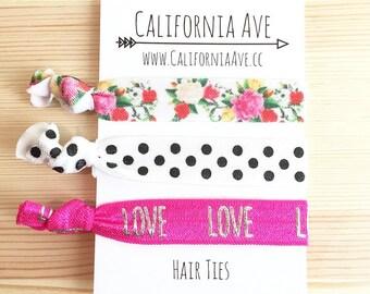 Summer of Love Hair Tie Set of 3