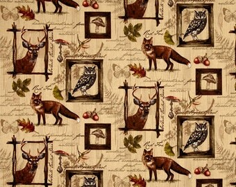 Animal Wildlife Fabric | Into the Woods Multi | sold by the Fat Quarter