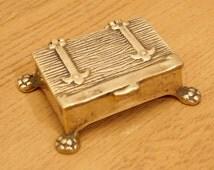 Vintage Postage decorative box / Stamp Holder / inkwell / ink pot / decorative box || Writing Accessory