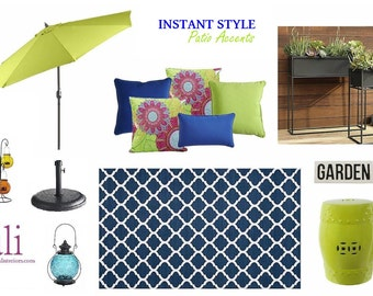 Blue & Lime Patio Accents
