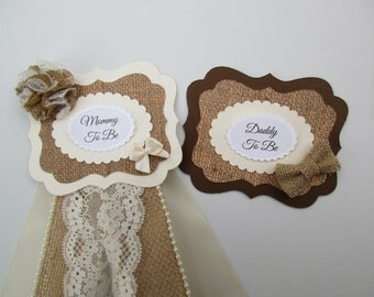 set burlap mommydaddy to be corsage mommy to be corsage baby girl