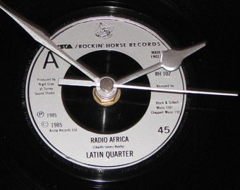 "Latin Quarter Radio Africa 7"" vinyl record clock"