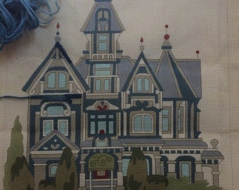 Needlepoint Canvas - Peter Ashe - Carson Mansion