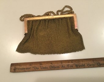 Copper mesh purse