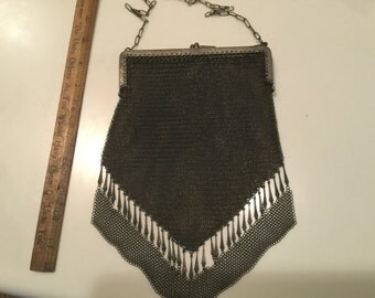 German silver mesh purse