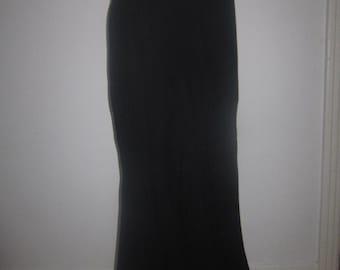 Women Boho Skirt Black Corduroy FishTail Mermaid Skirt Vintage Summer Boho Midi Skirt 80s Jet Black Vintage Retro Cotton Skirt Ready to ship