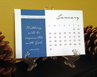 2016 Bible Verse Desktop Calendar