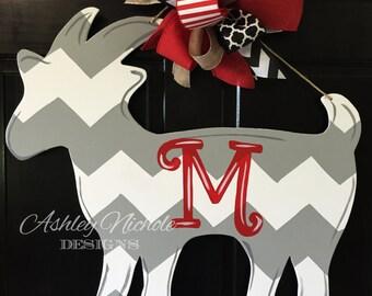 Goat Door Hanger, Door Decoration, Country Decor, Shabby Chic, Goat Farmer