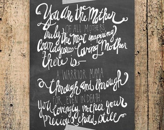 You are the Mother of all Mothers, pregnancy loss, child loss, grieving mother quote, Angela Miller -- INSTANT DOWNLOAD 8x10 Print