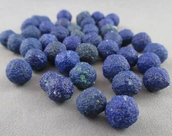 2 Azurite Stones Tumbled - Blue Azurite Crystals, Stone of Heaven, Psychic Stones, Chakra Crystals, Healing Crystals and Stones  (T162)