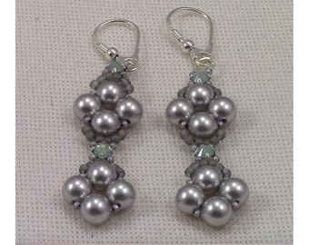 Raw Pearl and Montee Earrings